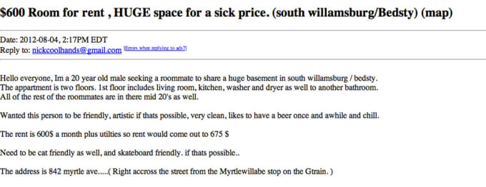 14 - The 15 Worst NYC Apartment Ads On Craigslist (Right ...