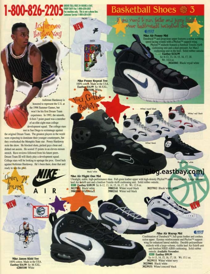 c55de0cb5fa10 25 Classic Sneakers From Vintage Eastbay Catalogs