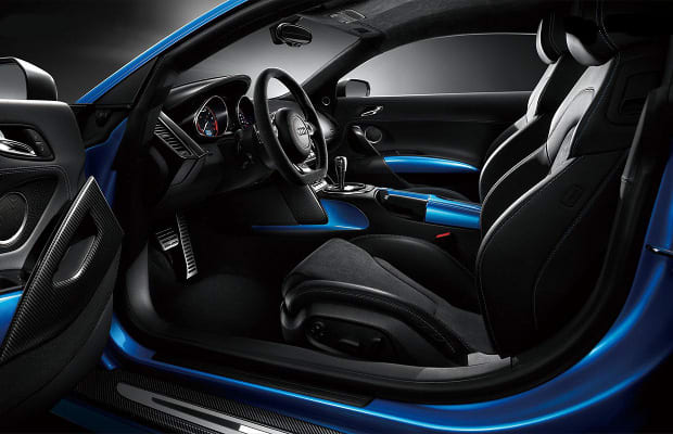 audi r8 china edition the 50 most outrageous custom car interiors complex. Black Bedroom Furniture Sets. Home Design Ideas
