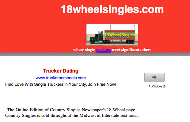 dating site for truckers only