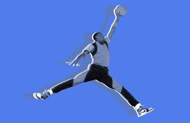 jordan brand s jumpman logo is actually his airness doing a ballet