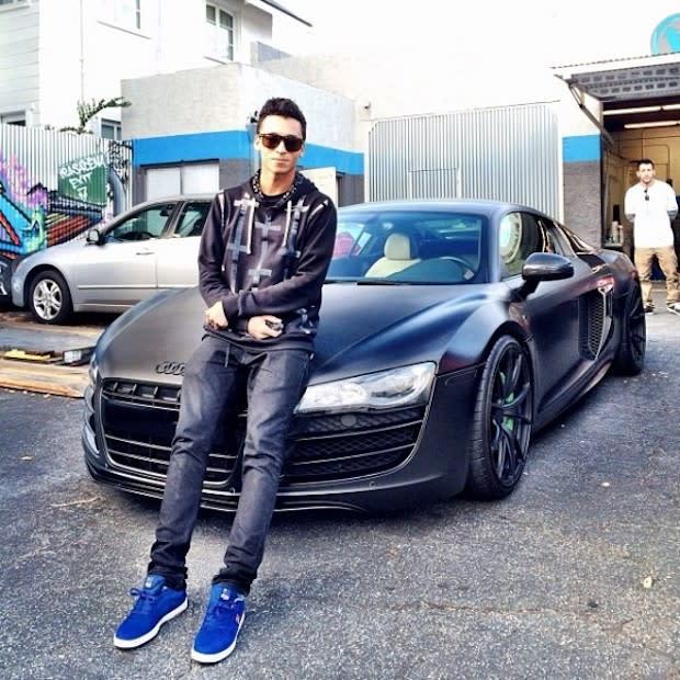 Nyjah Huston Got Sick Of Driving An AllWhite Audi R So He Blacked - All white audi