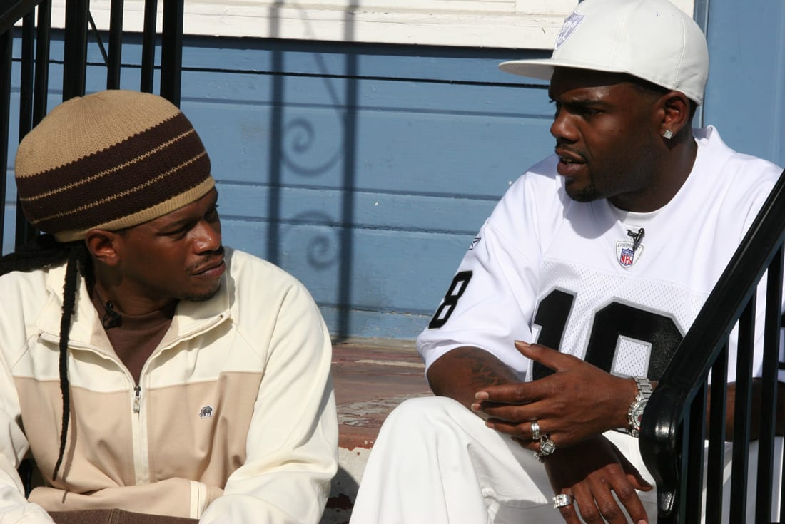"Sway Calloway and Keak Da Sneak filming for MTV's ""My Block: The Bay"" in 2006."