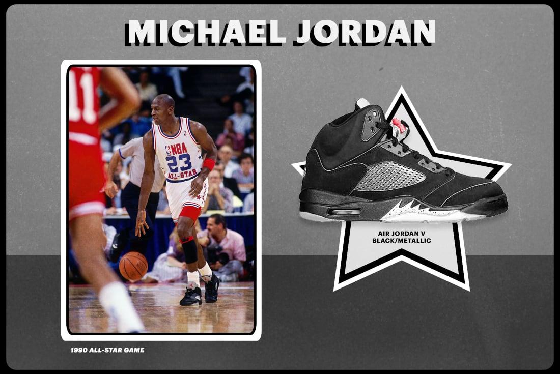 "hot sales 58143 54599 1990  Air Jordan V ""Black Metallic"""