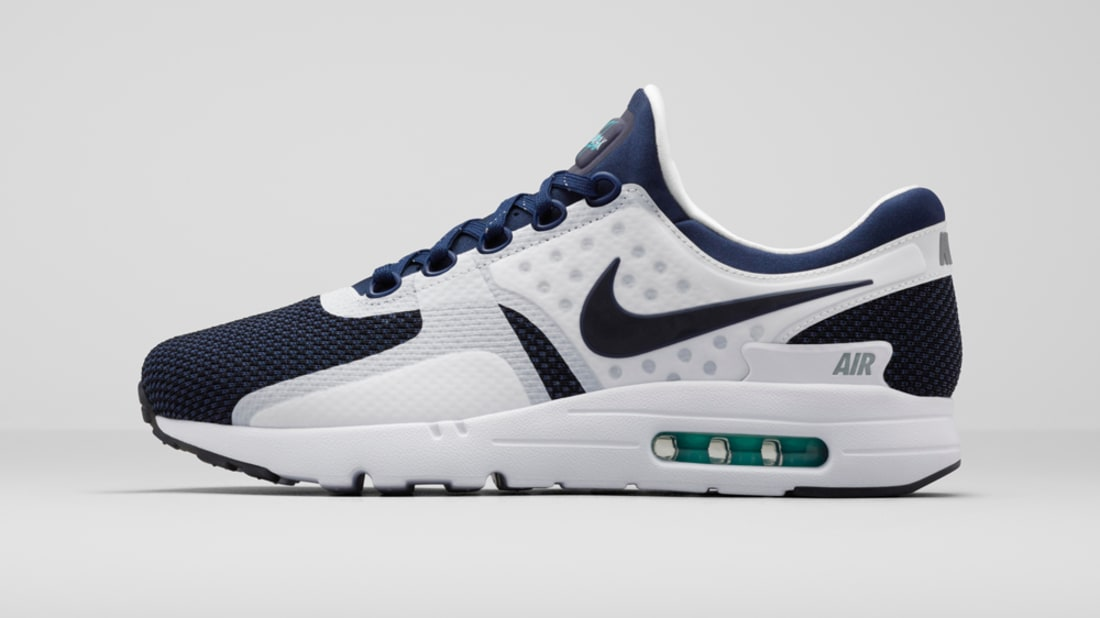 Best Drop Shipping Nike Air Max Zero QS Couple running shoes Blue white[789695-104]