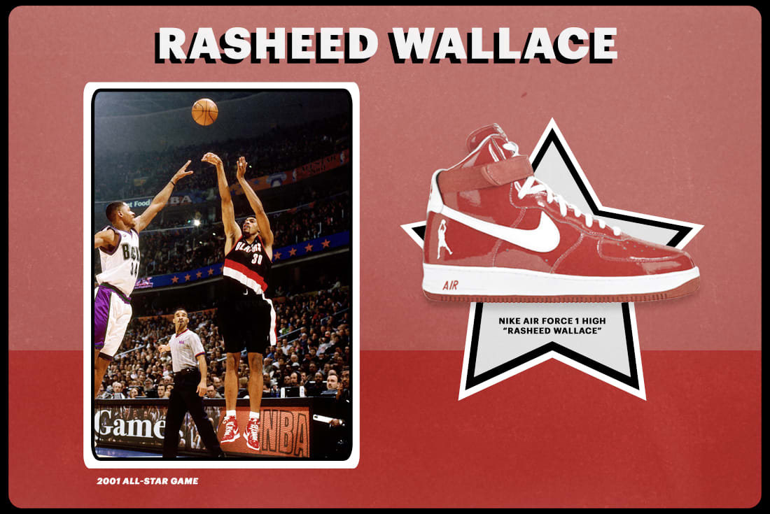 "new product a910d 97d43 2001  Nike Air Force 1 High ""Rasheed Wallace"""