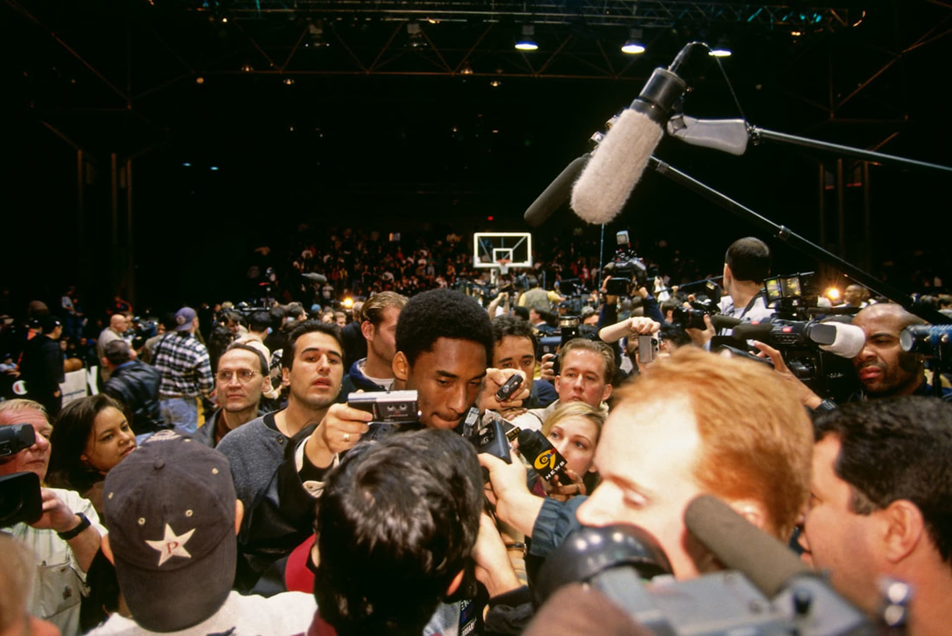 8539c4de849 Kobe answering questions during NBA All-Star Practice on February 8