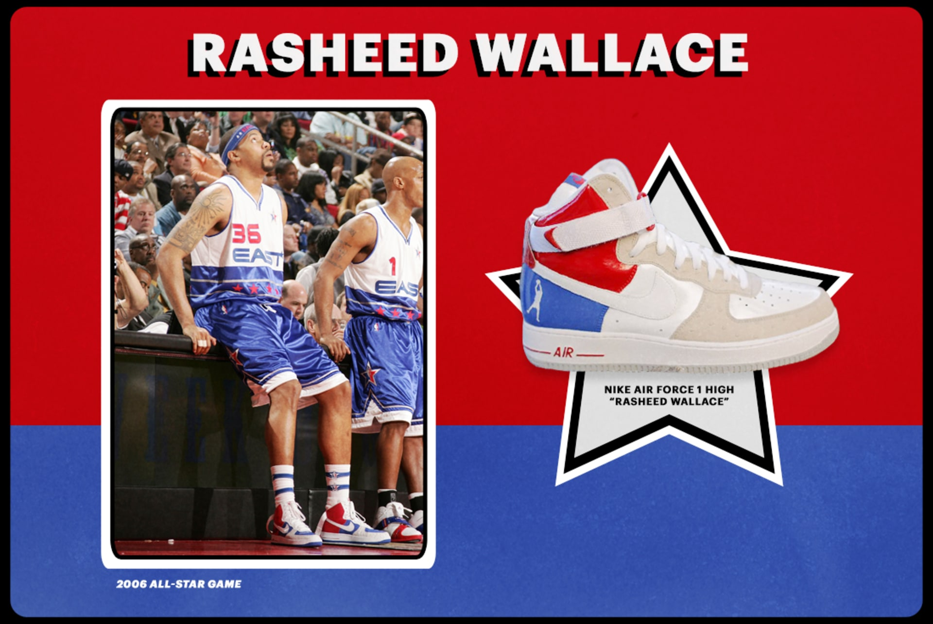 "aaeab3d0f14a 2006  Nike Air Force 1 High ""Rasheed Wallace"""