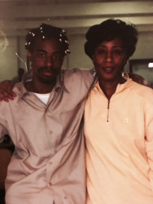 Andre Louis Hicks A.K.A. Mac Dre and his mother, Wanda Salvatto.