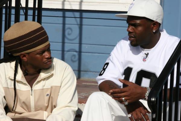 "Sway Calloway and Keak Da Sneak filming for MTV's ""My Block: The Bay"" in 2006."