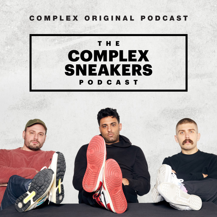 Complex Sneakers Podcast Art with Matt Weltyy, Joe La Puma, and Brendan Dunne