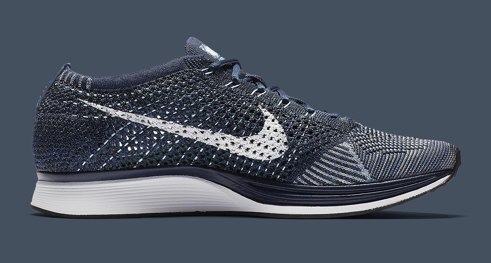 Nike Flyknit Racer Blue Tint White 862713-401 Medial