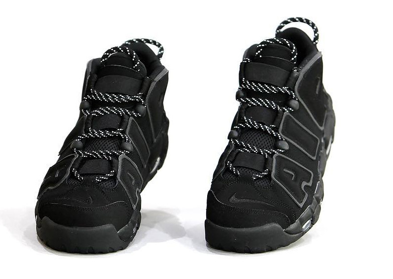 Nike Air More Uptempo Black Reflective Front