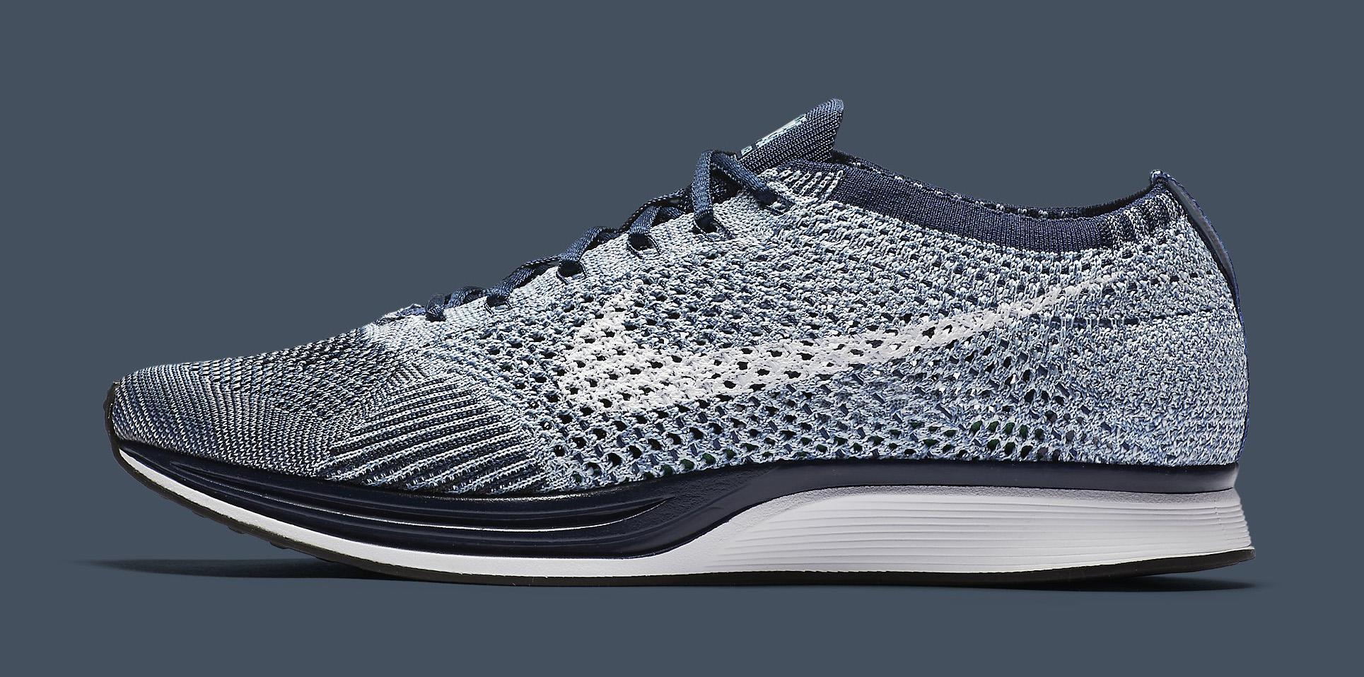 Nike Flyknit Racer Blue Tint White 862713-401 Profile