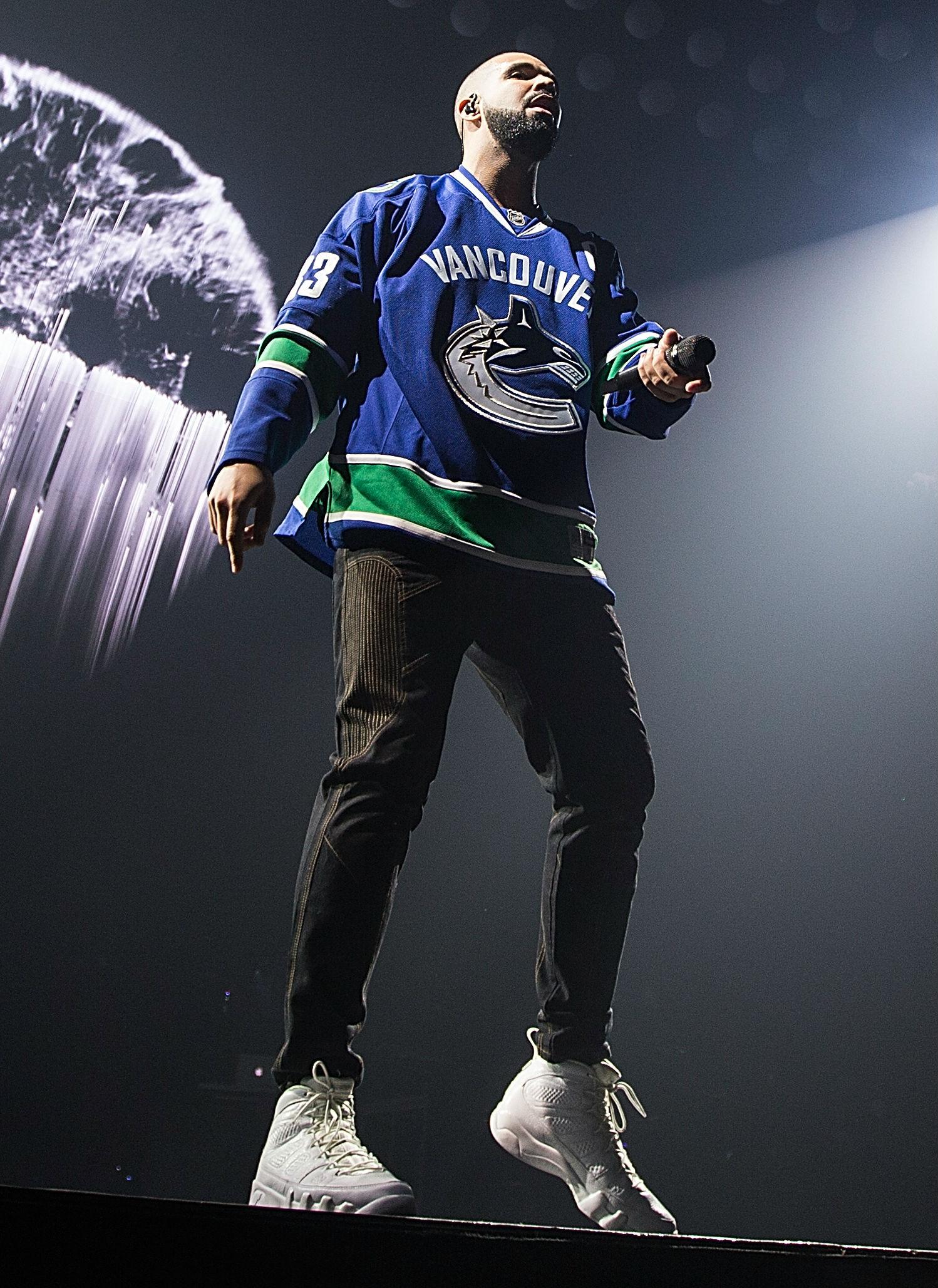 Drake Wearing the Anniversary Air Jordan 9