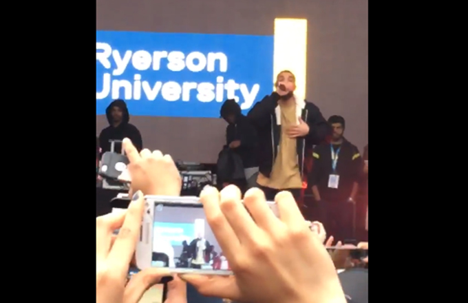 Drake Surprises Ryerson University Students With Another Performance news