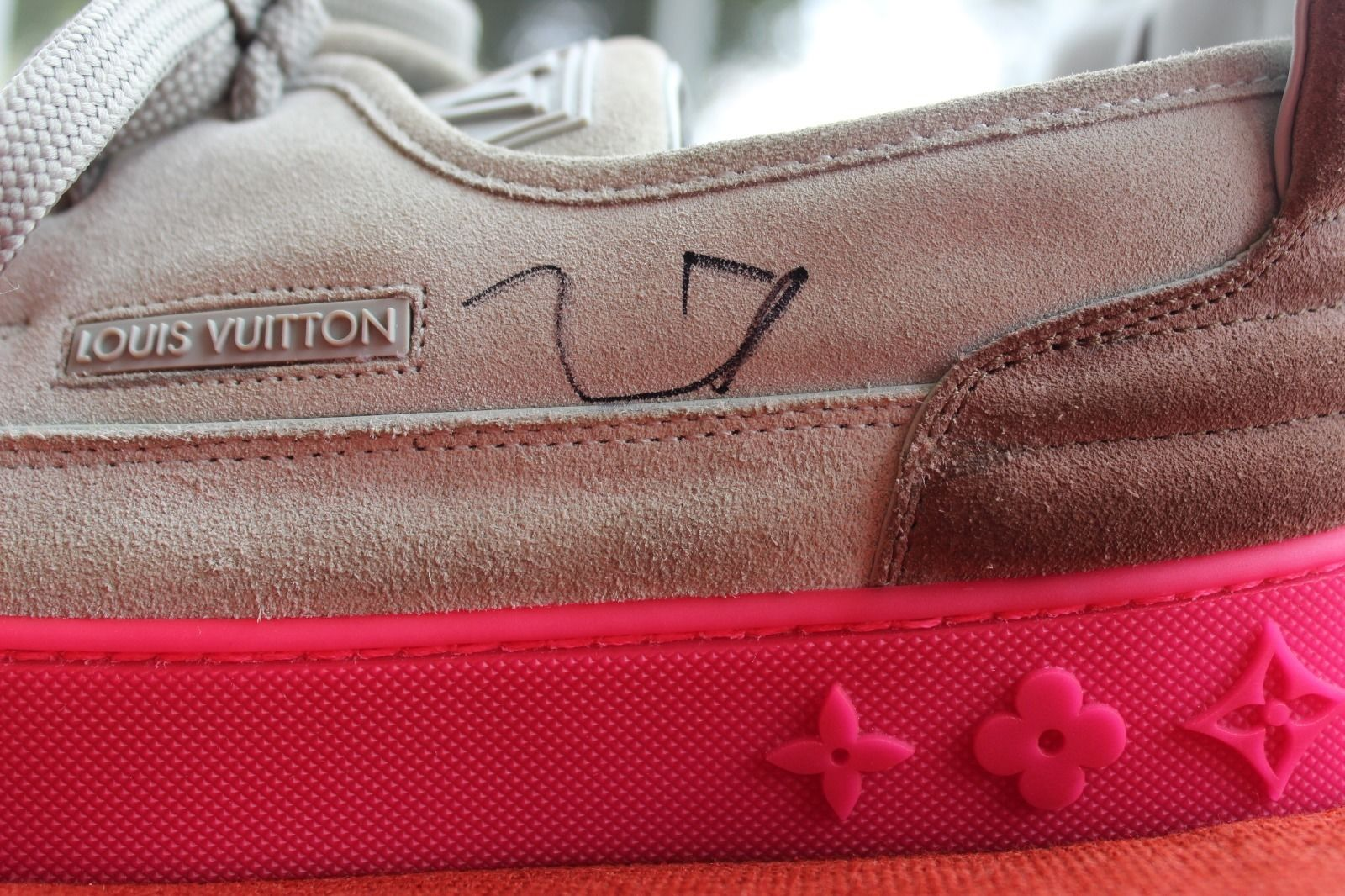 Kids Selling Kanye West Signed Louis Vuitton Hudson Sneakers Left Autograph