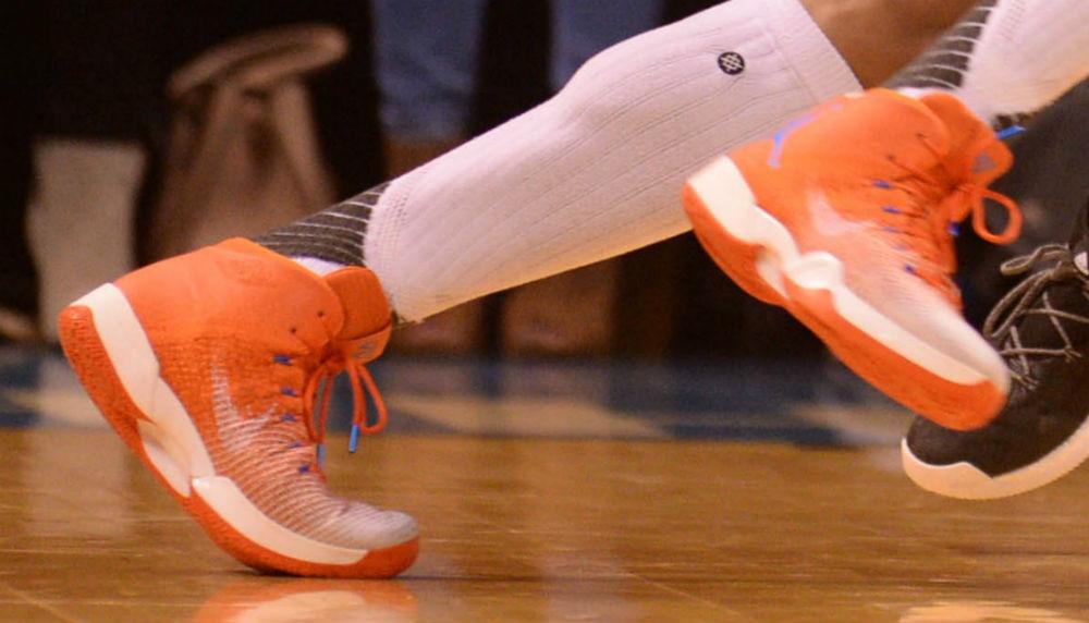 Russell Westbrook Air Jordan 31 Orange White PE Shoes