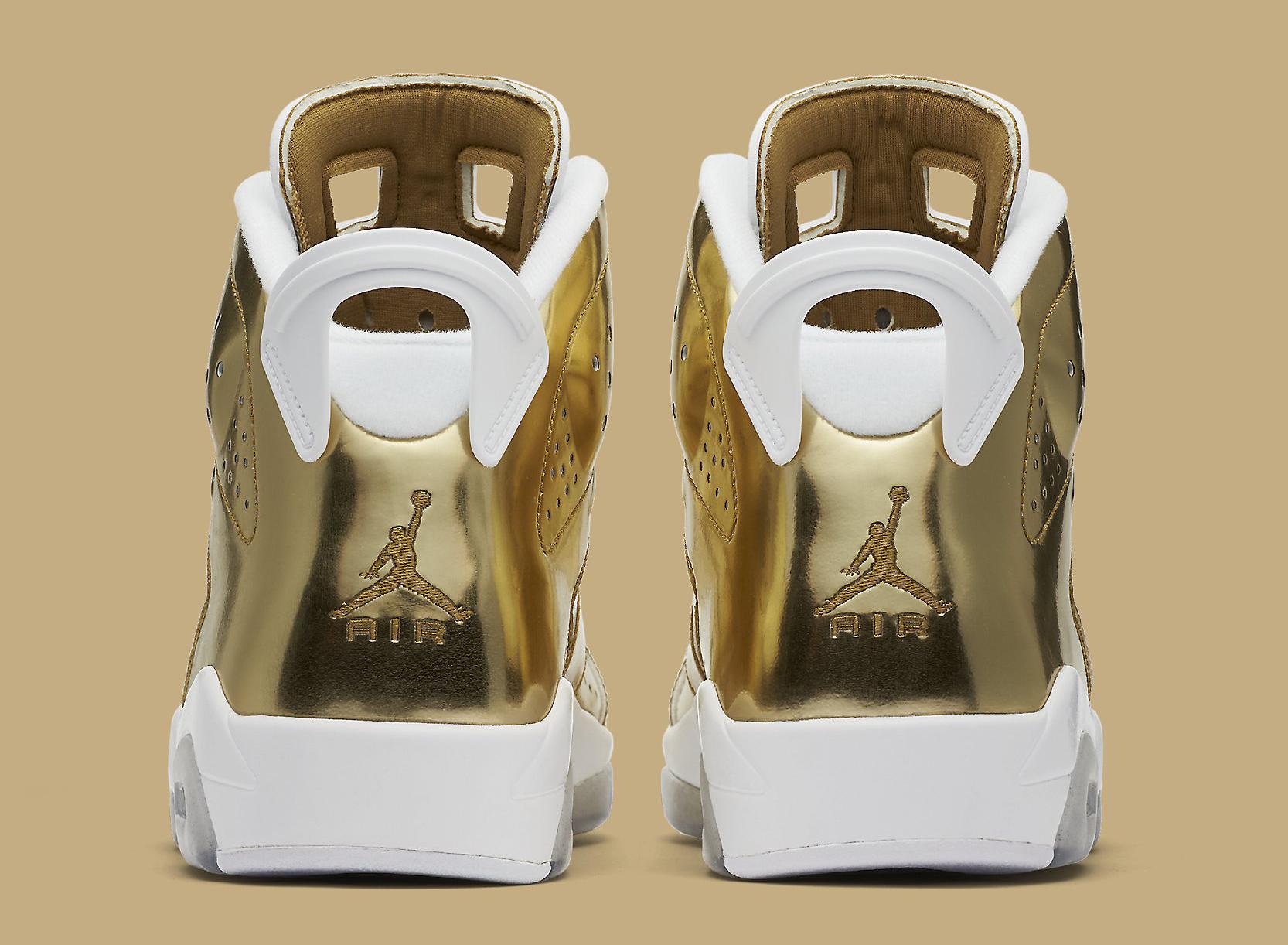 Gold Pinnacle Air Jordan 6 854271-730 Heel