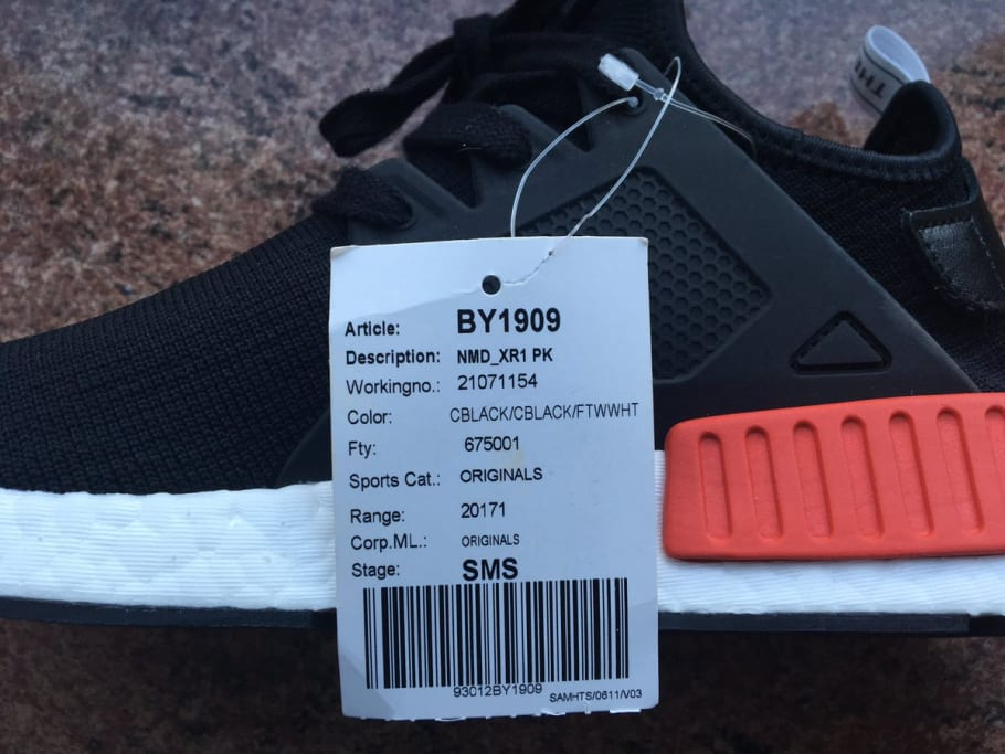 Adidas NMD XR1 OG BY1909 Black Red Blue   Sole Collector