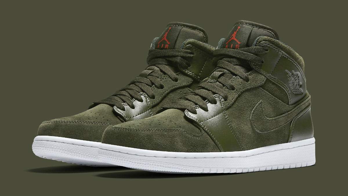 zapatillas air jordan I Mid sequoia