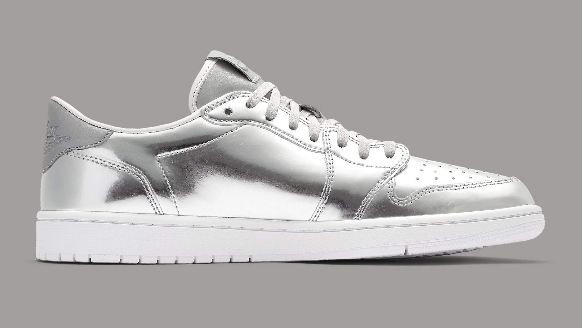 Silver Air Jordan 1 Low 852549-003 Medial