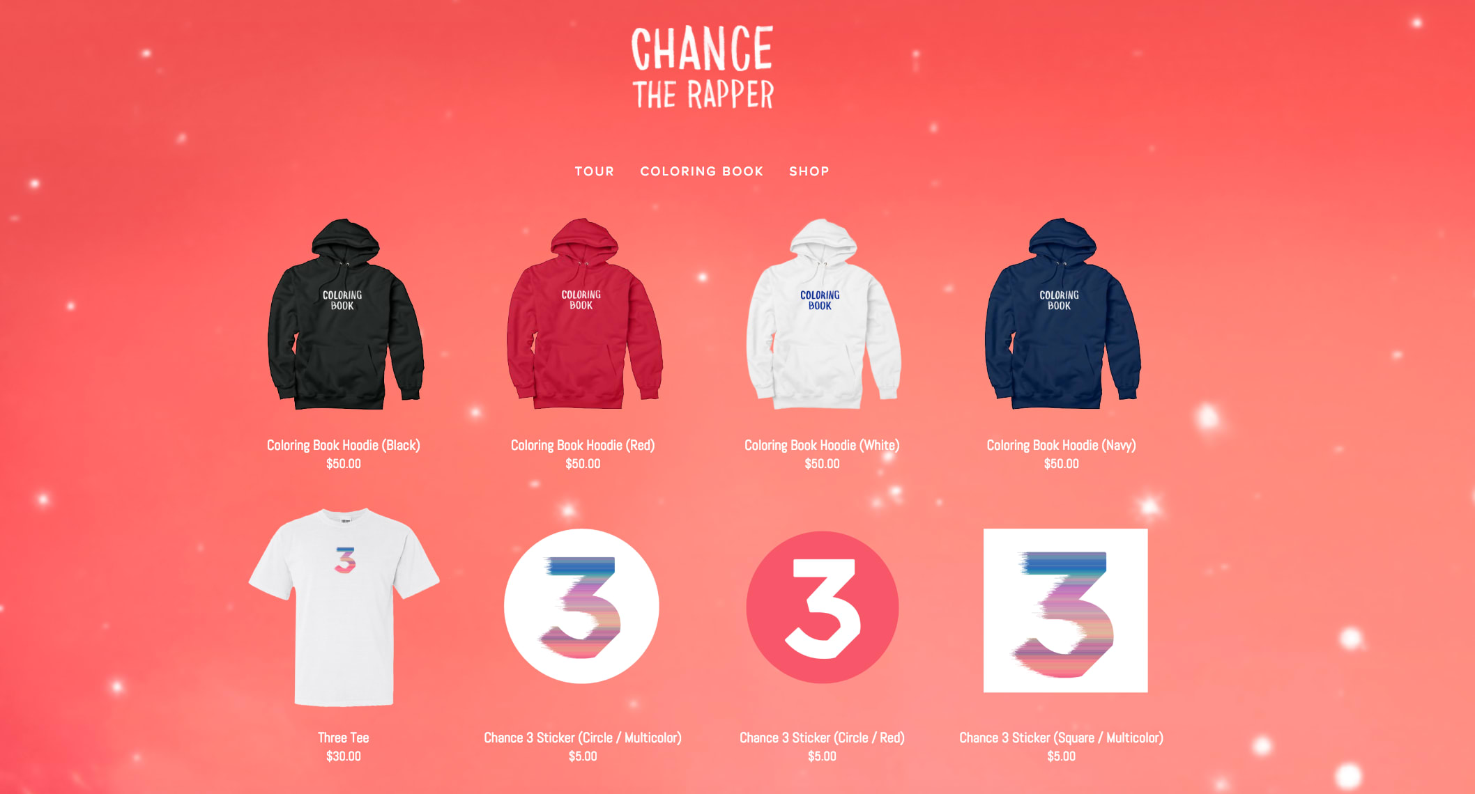 Coloring book chance - Chance The Rapper Merch