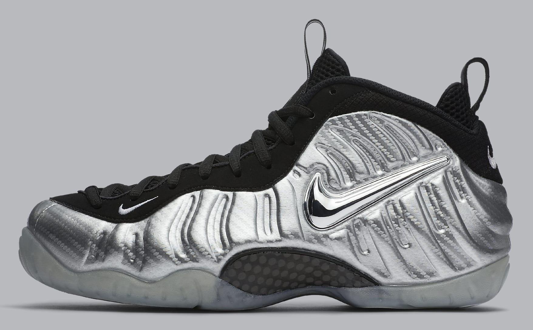 Silver Nike Foamposite Pro Carbon Fiber