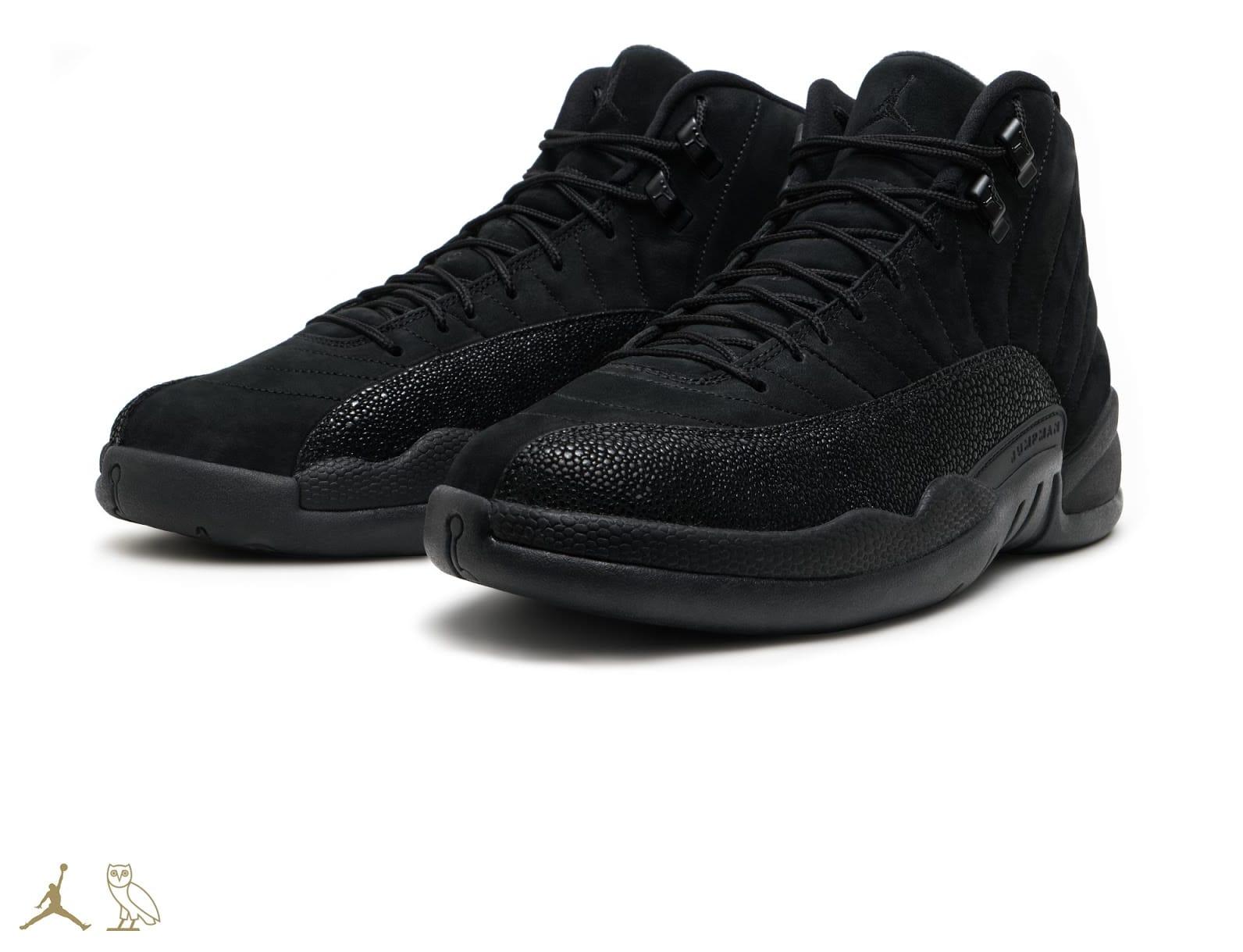 OVO Air Jordan 12 Black Release Date