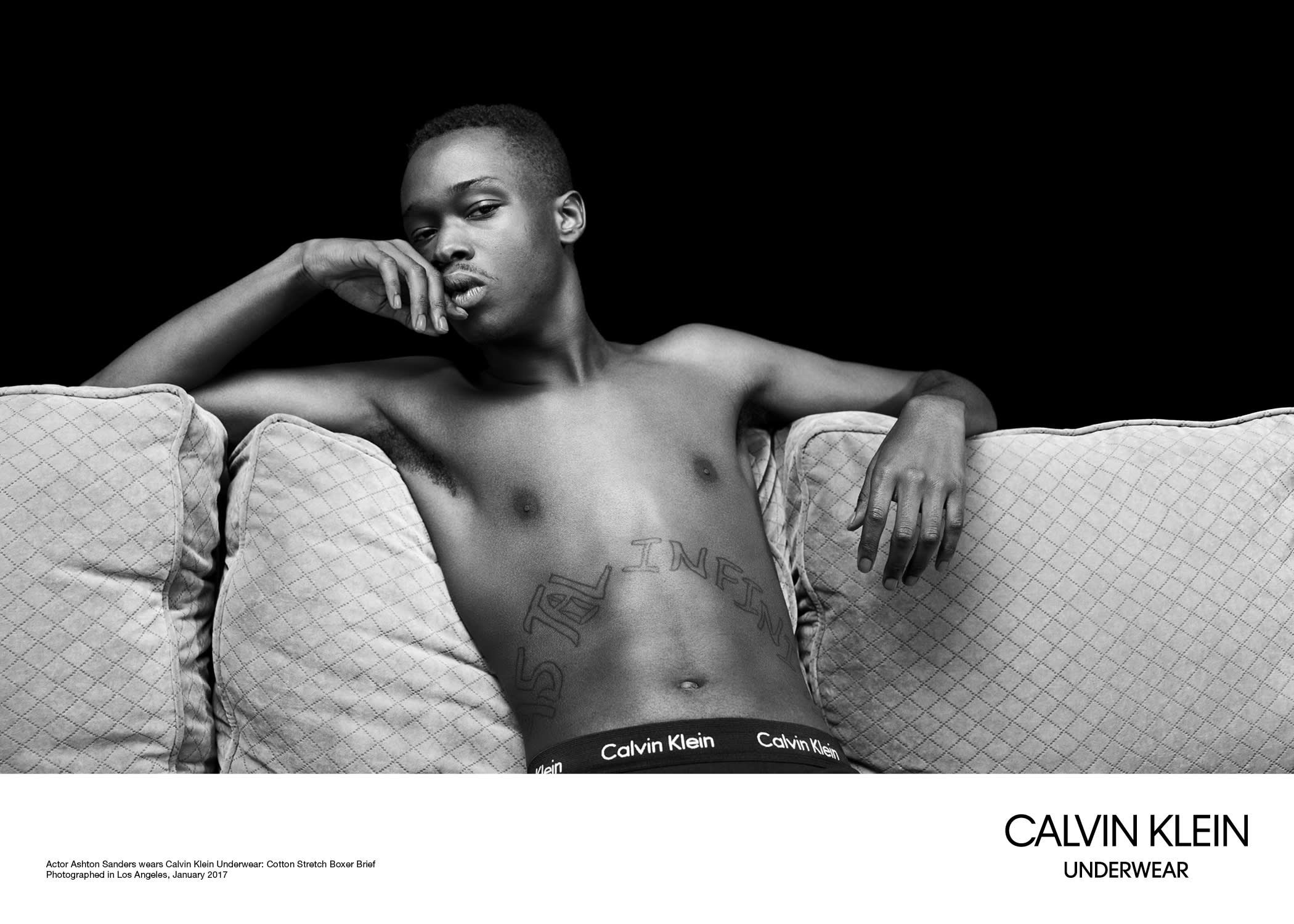 Ashton Sanders for Calvin Klein