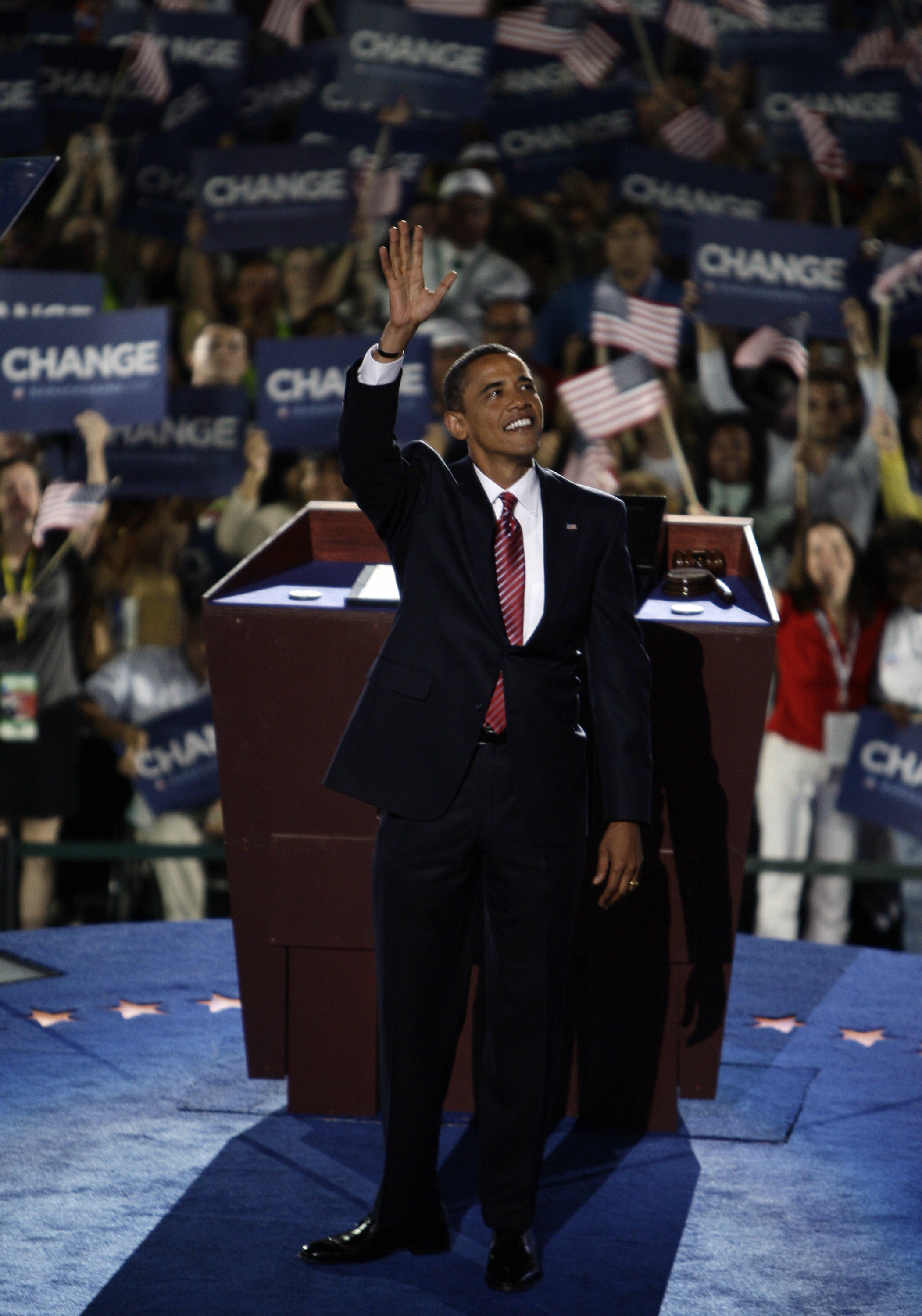 Obama at the 2008 DNC