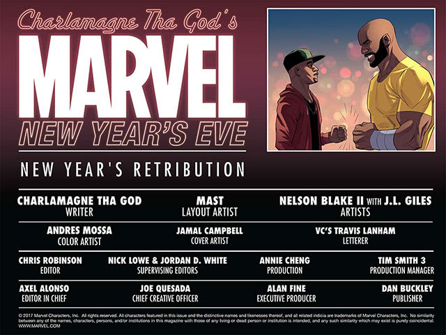 Charlamagne Tha God's Marvel New Year's Eve credits