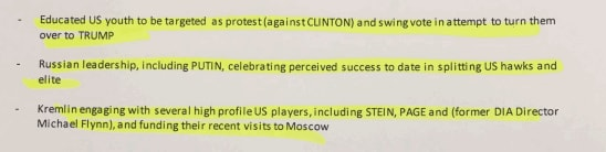Russian Memos on Donald Trump