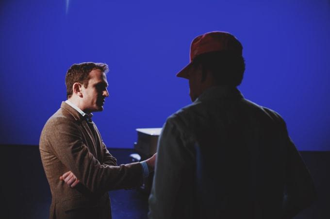 Jake Schreier on set with Chance