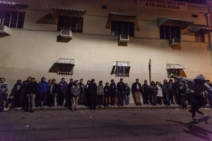 Lines outside of a store on Fairfax