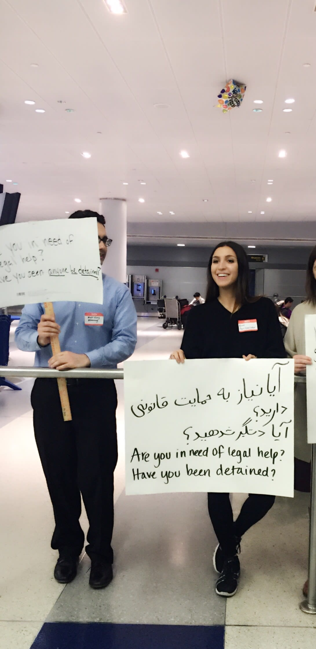 legal help sign for detainees