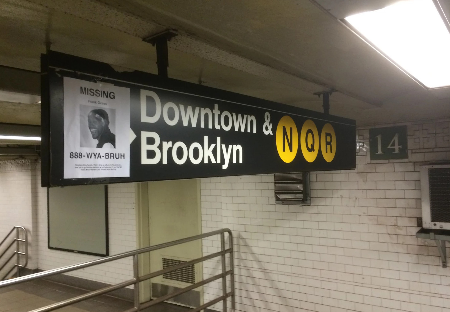 People Are Putting Up Frank Ocean MISSING Posters Around NYC.  Make Missing Poster