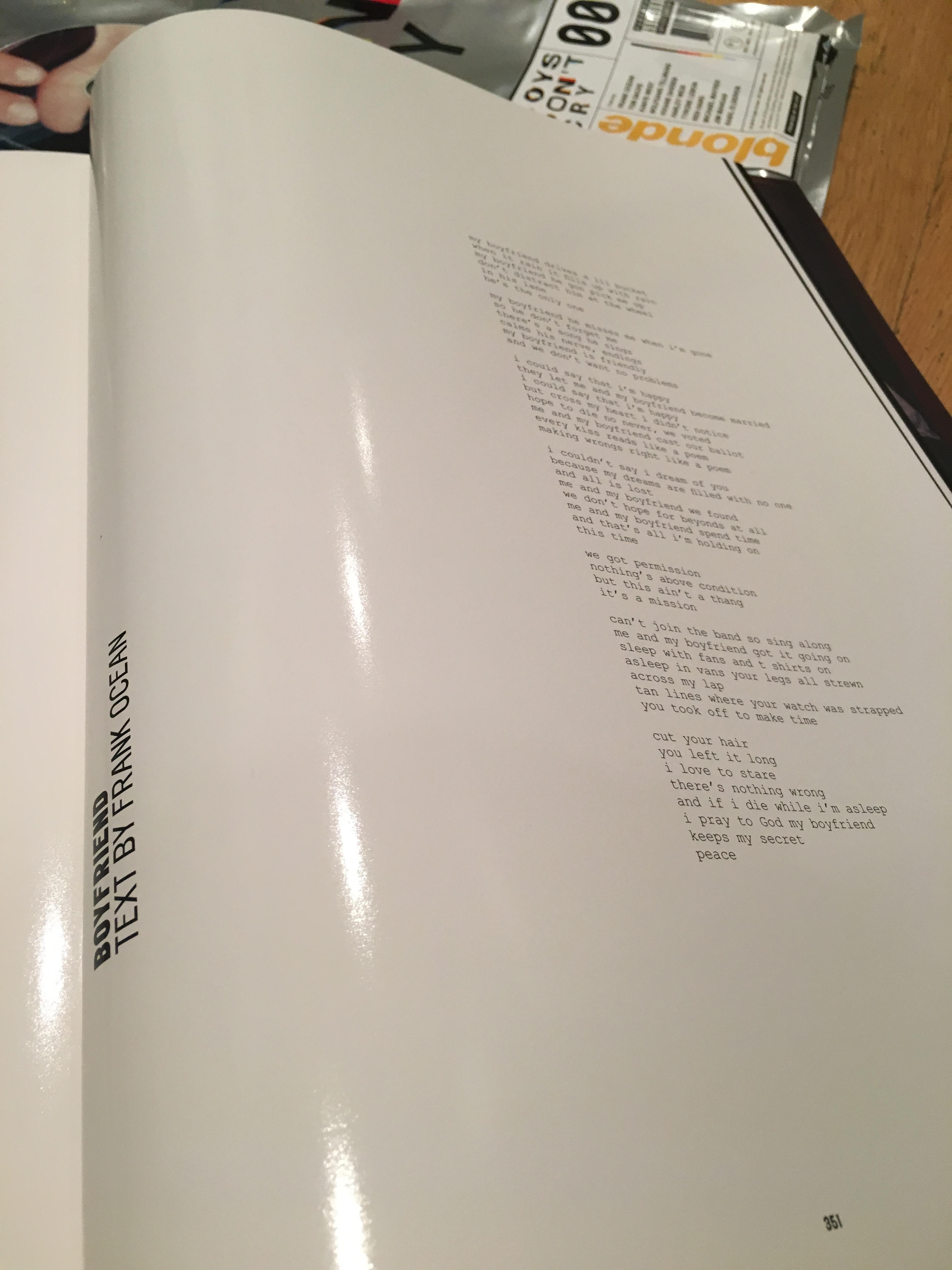 Here's a Look Inside Frank Ocean's 'Boys Don't Cry' Zine news