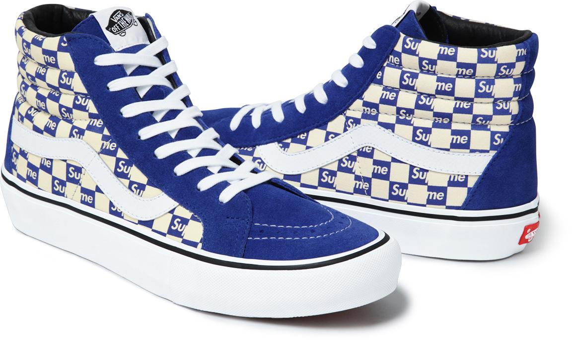 Supreme Vans Checkerboard Blue