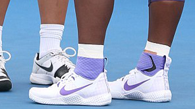 serena williams debuts mystery mid top nike tennis shoes