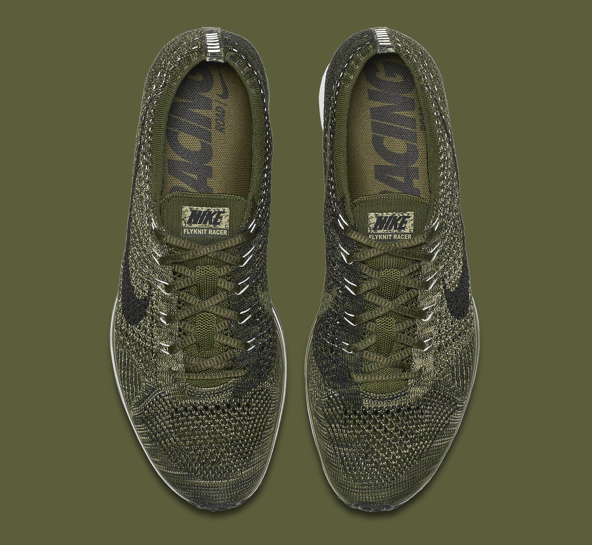 Nike Flyknit Racer Green Camo 862713-300 Top