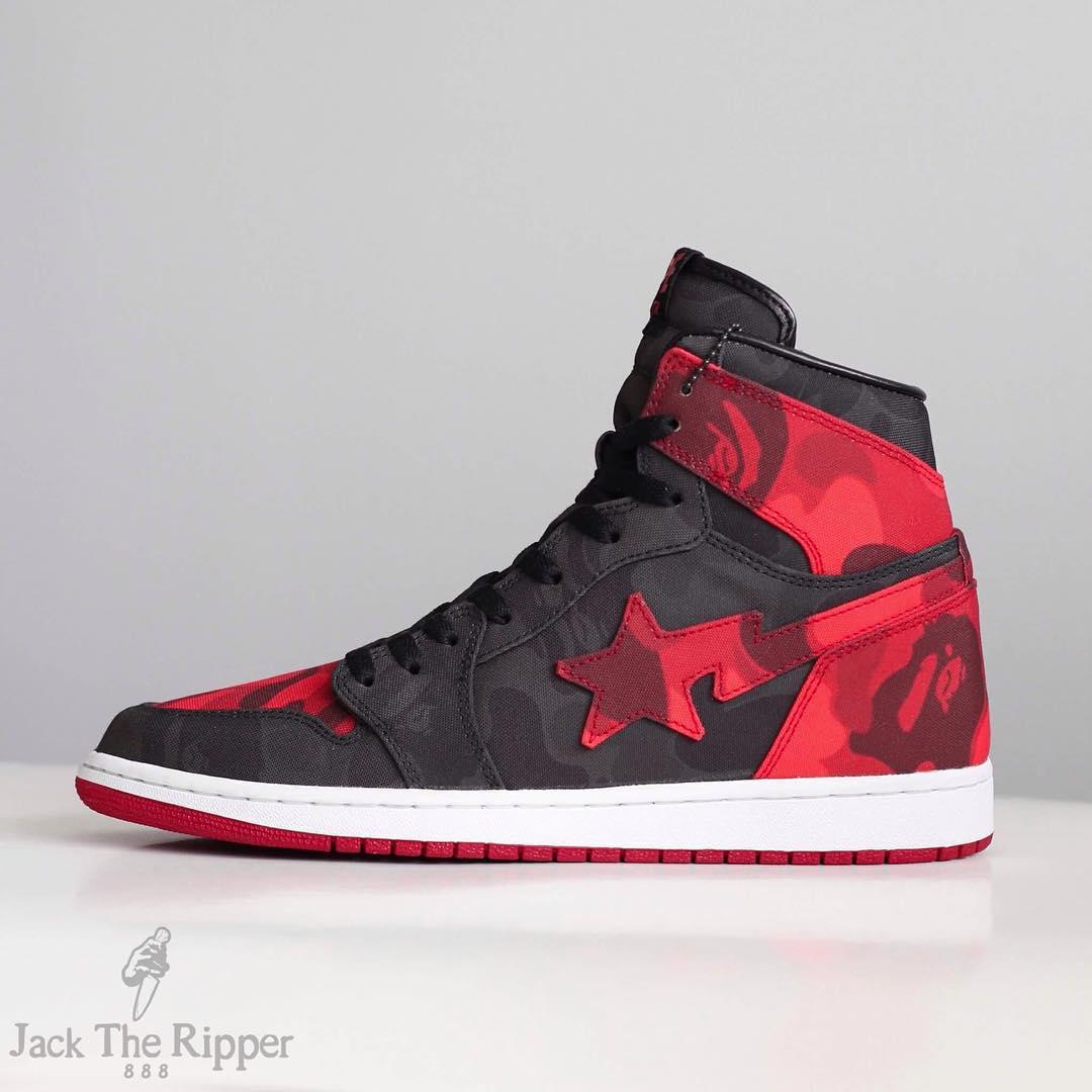 33f80d021d1 BAPE x Air Jordan 1 Banned Custom by Jack the Ripper Side