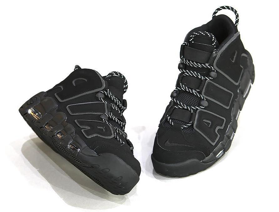 Nike Air More Uptempo Black Reflective Pair
