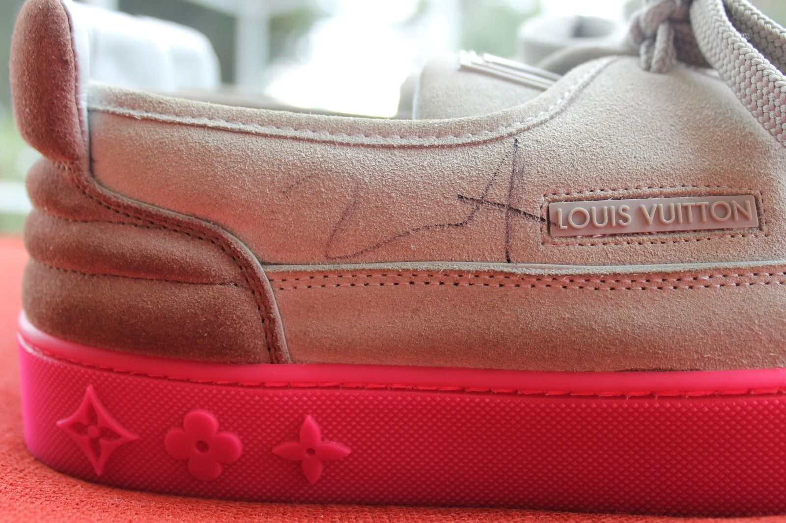Kids Selling Kanye West Signed Louis Vuitton Hudson Sneakers Right Autograph