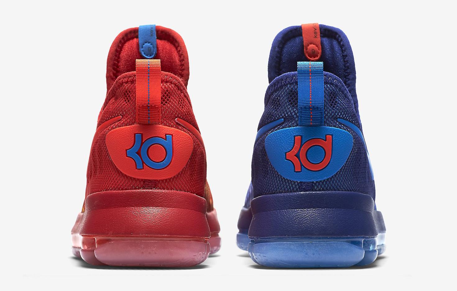 size 40 f1562 4c3d8 Image via Nike Nike KD 9 Fire Ice 855908-400 Heel