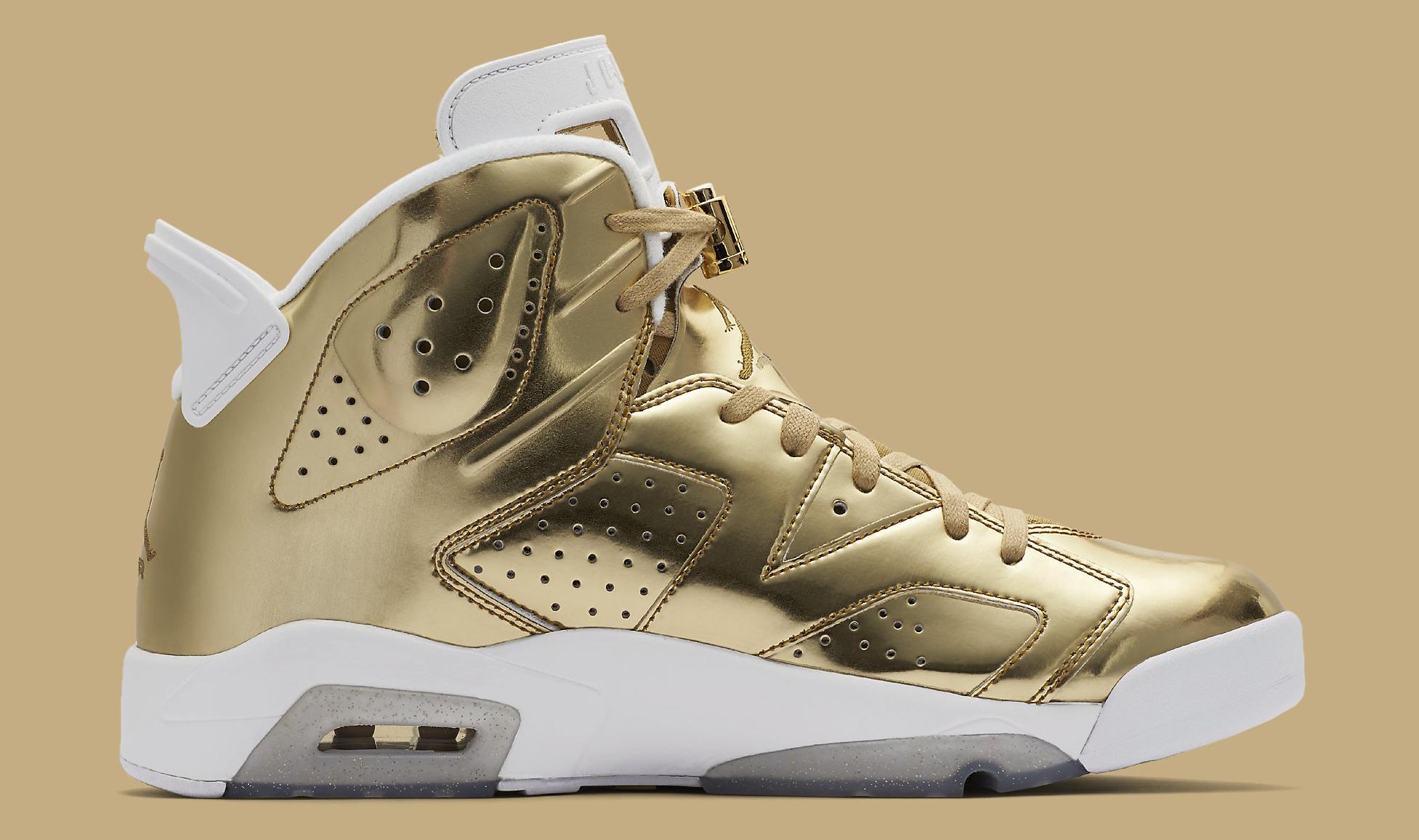 Gold Pinnacle Air Jordan 6 854271-730 Medial