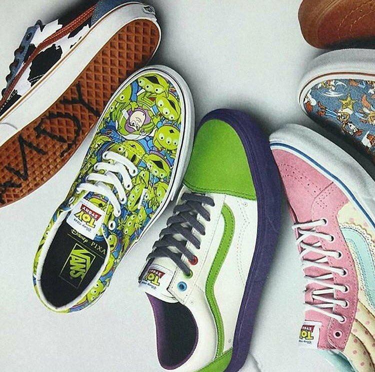 Vans X Toy Story On Feet