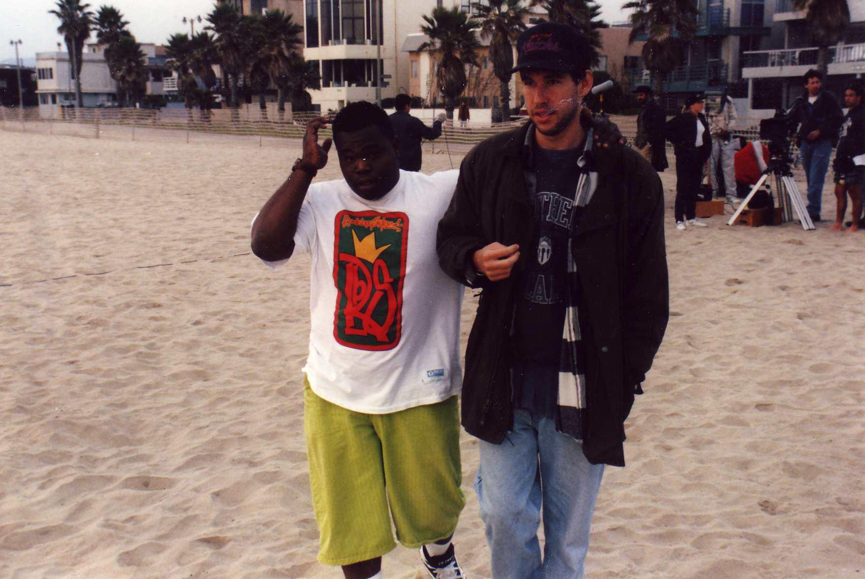 Jermaine and Doug on Phat Beach set