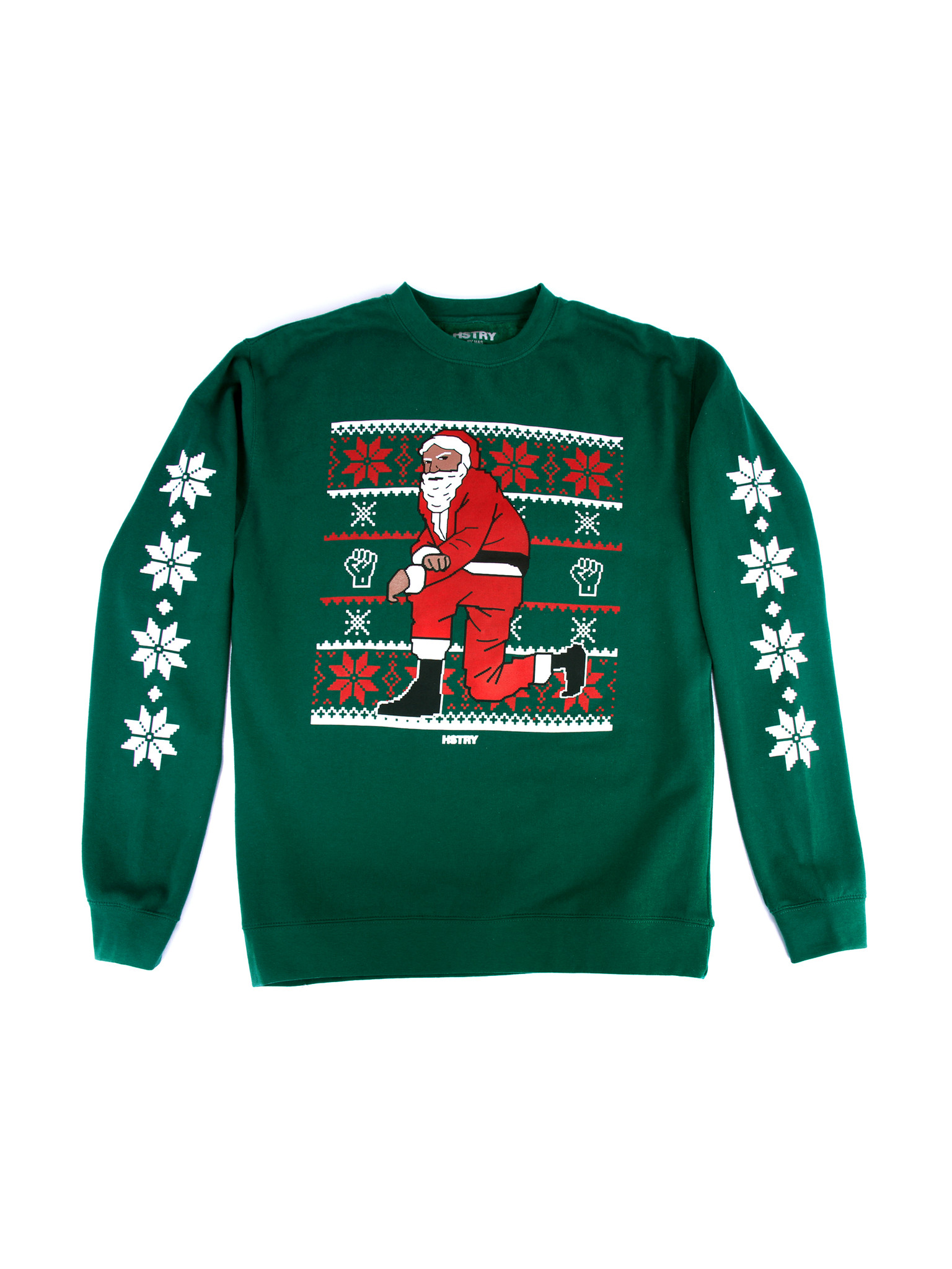 Nas Releases a Collection of Kneeling Santa Christmas Sweaters ...