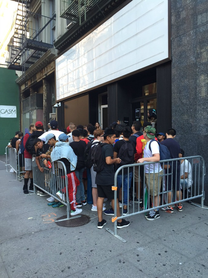 Photo 1 from Kanye West's NYC pop-up shop.